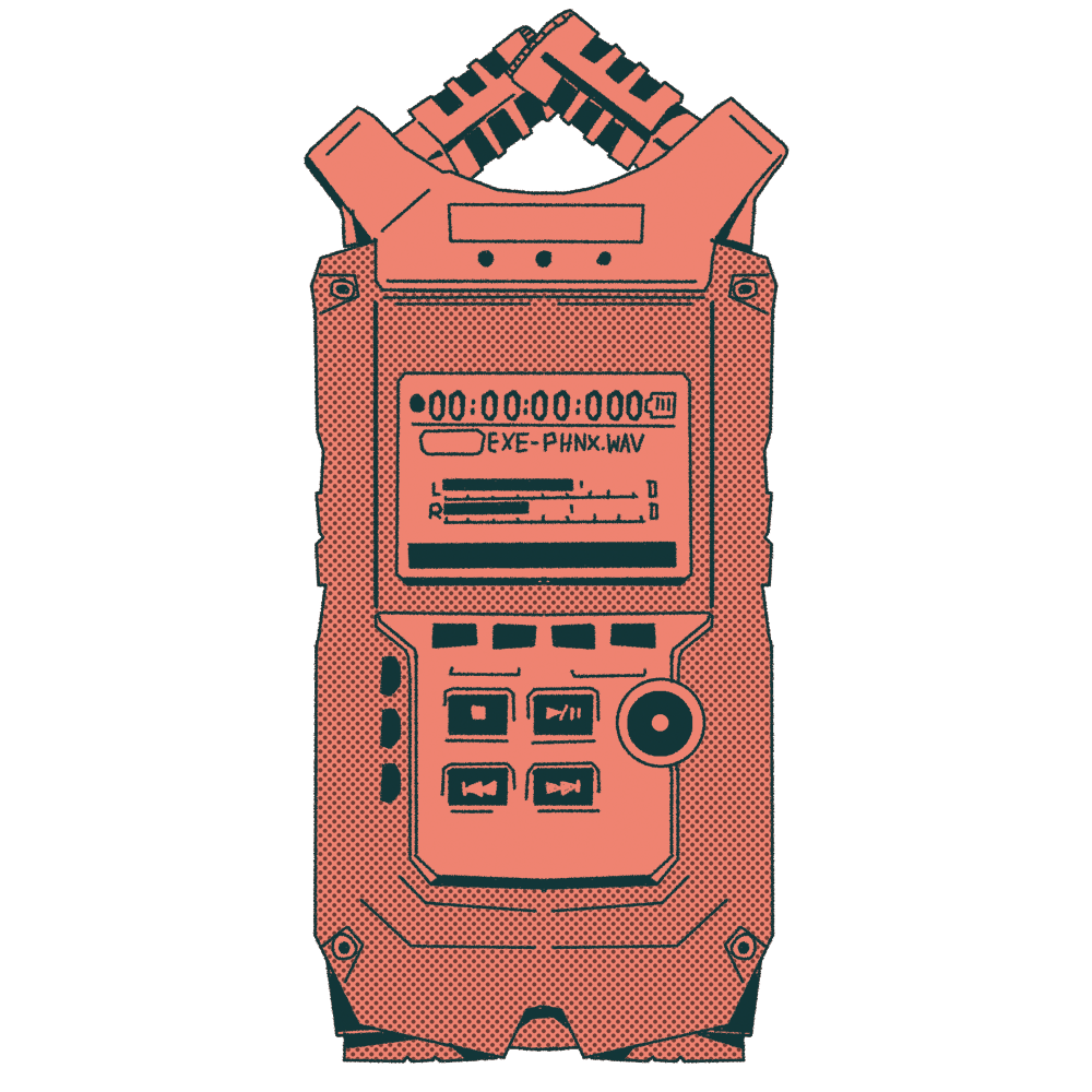 An illustration of a sound recorder