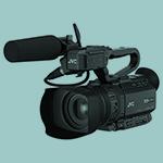The JVC-GY-HM200E camera.