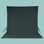A chromakey curtain.