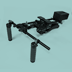 a shoulder rig filming accesory.