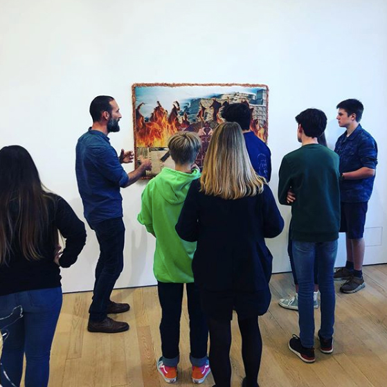 Our gallery curator Matt giving our youth group a tour of the galleries