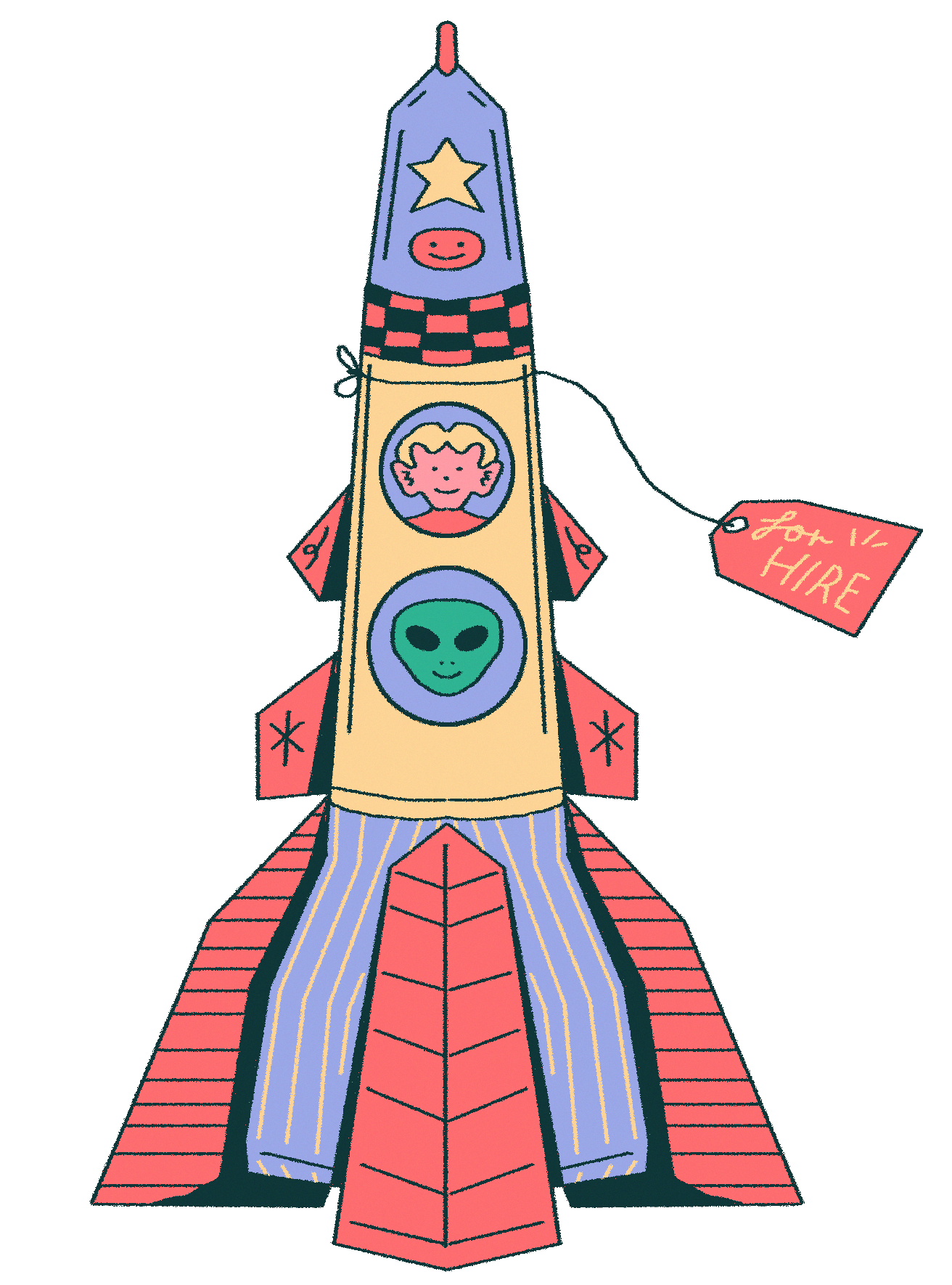 Illustration of a space ship