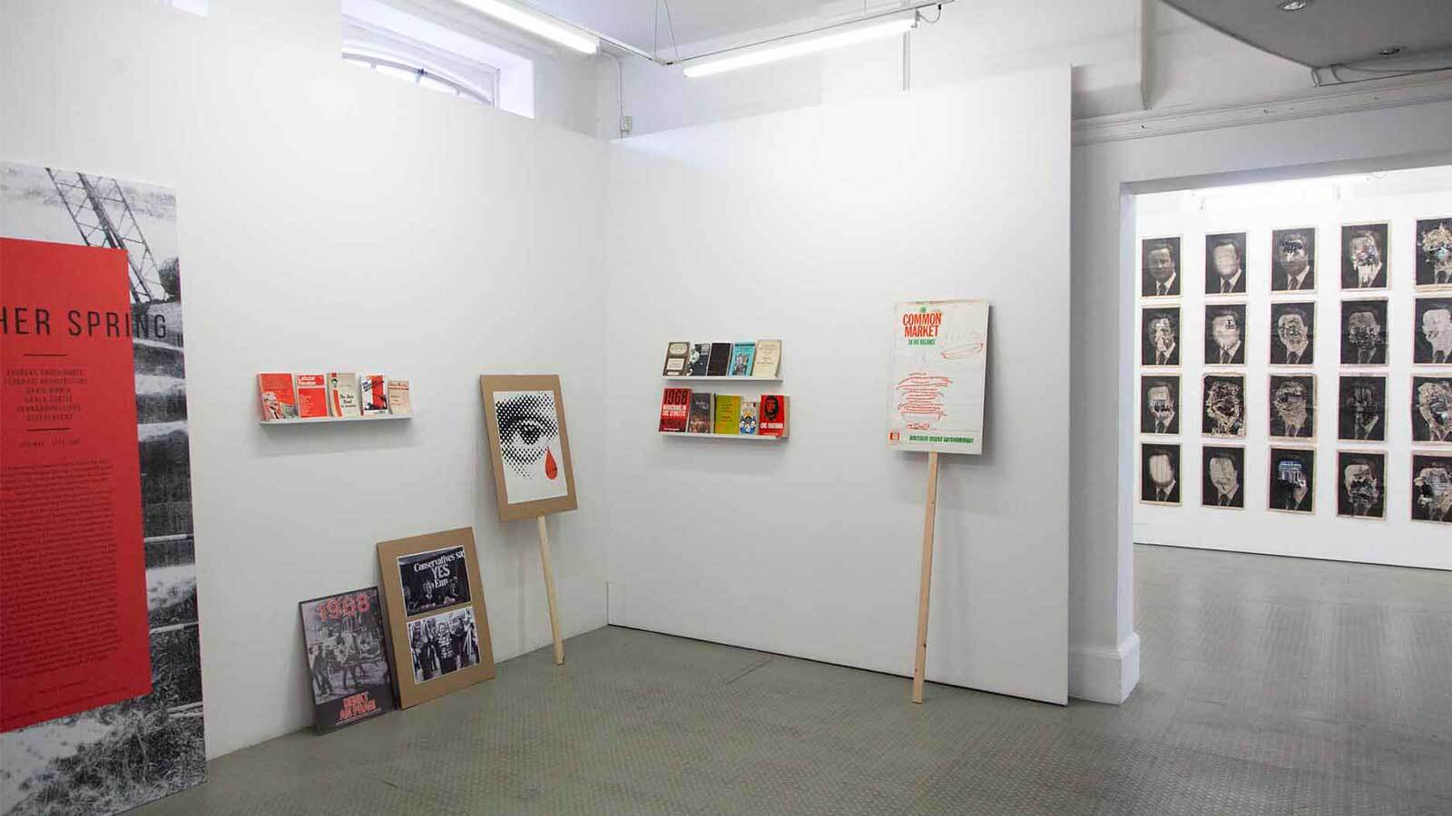 Photograph of another spring exhibition at exeter phoenix's gallery