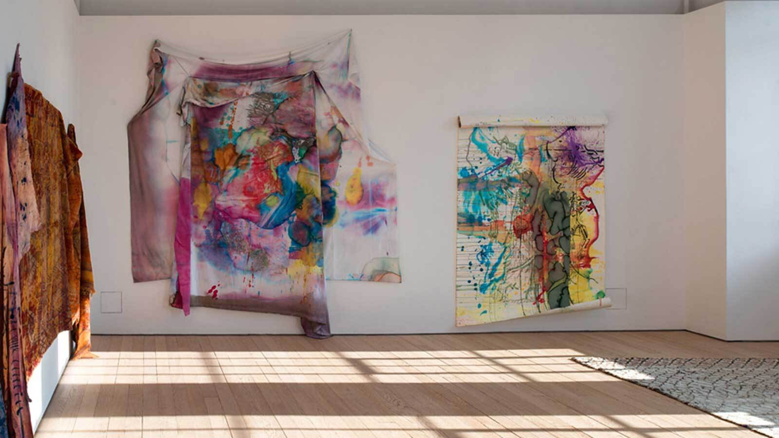 Photograph of Jacqui Hallum's berber carpet installation at Exeter Phoenix