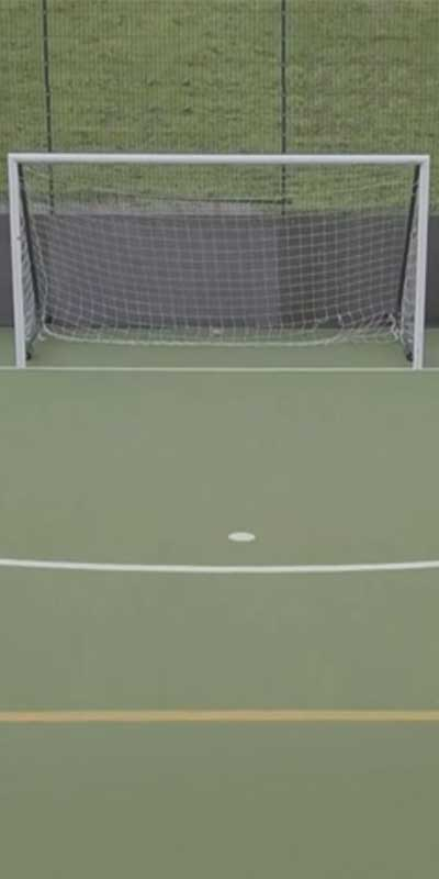 A still from Liam Jolly's 'Amen Brother' which features a football goal.
