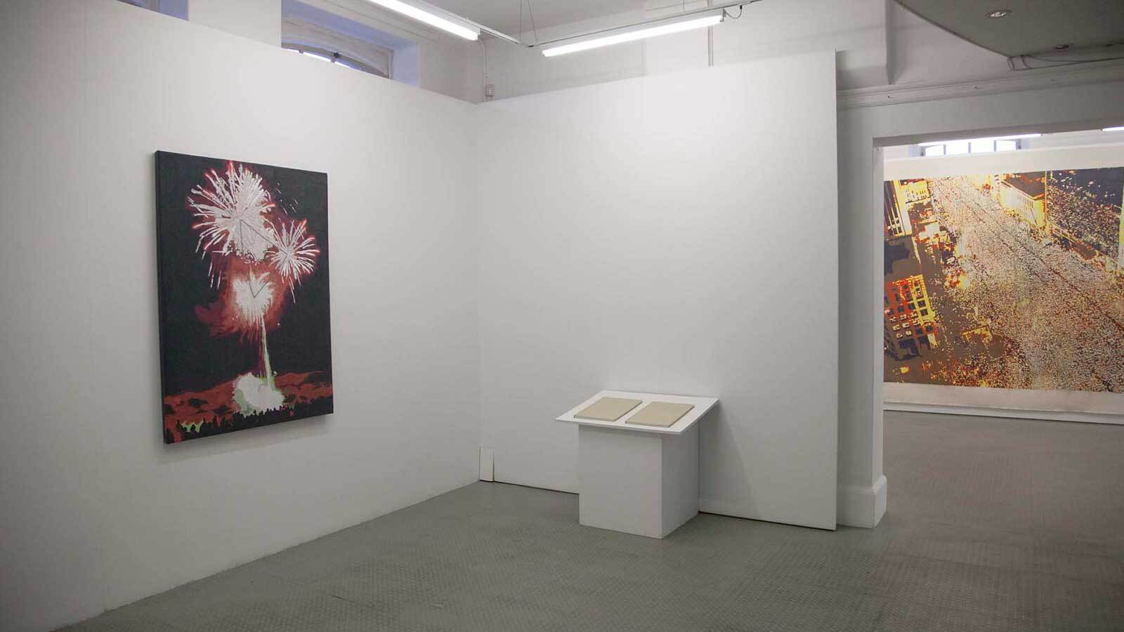 Photograph of Young In Hong's exhibition at Exeter Phoenix