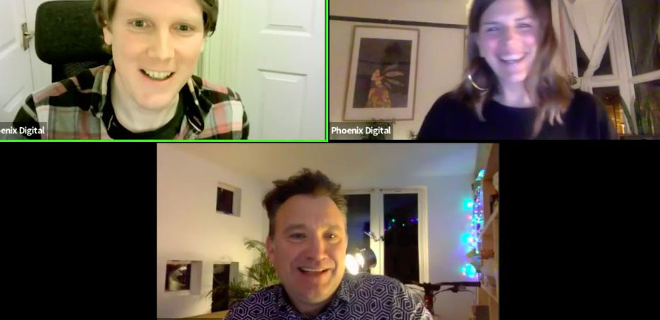 zoom meeting with 3 participants