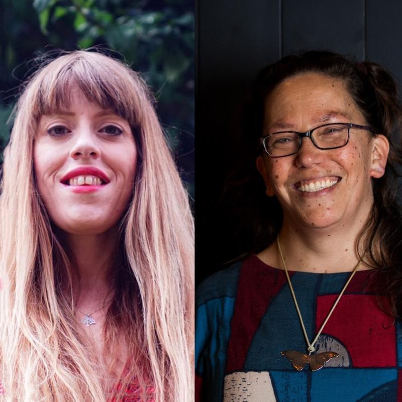 headshots of poets Liv Torc and Harula Ladd