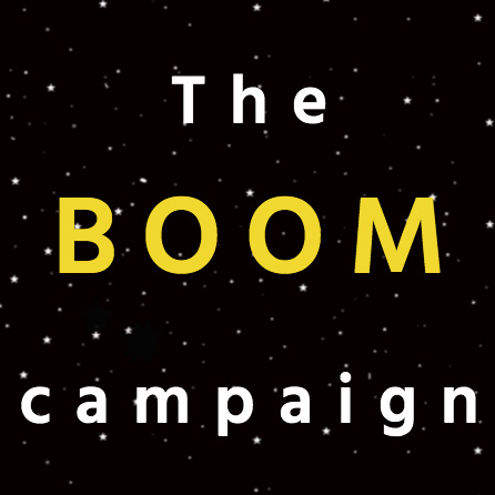 Text reads The Boom Campaign on a black starry background